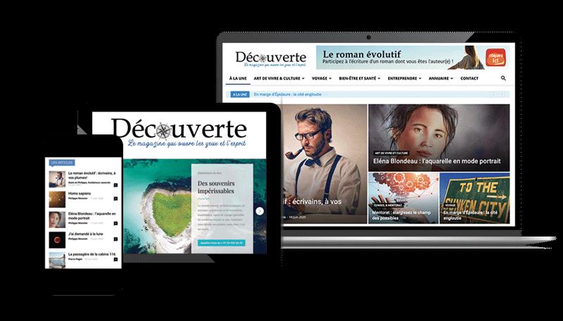 Découverte magazine, disponible sur tablette, écran et smartphone